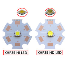 1-10 Uds. CREE 12V XHP35 HD HI Cool blanco Neutral blanco cálido LED diodo Chip linterna parte reflector DIY(China)