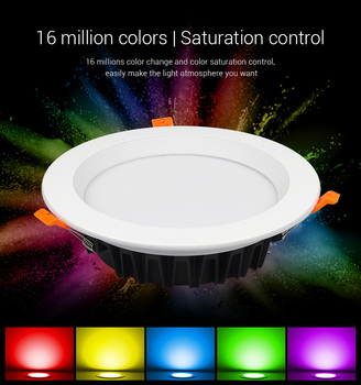 MiBOXER(milight)  LED ceiling Downlight dimmable AC220V can remote/APP control HoIe Size 200~210mm FUT060 25W RGB+CCT recessed