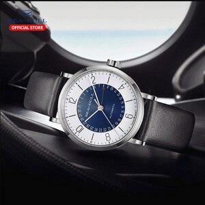 Image 5 - Seagull Men and Women Watch Fashion Personality Mechanical Watch Calendar Waterproof Leather Couple Watch 819.97.6052