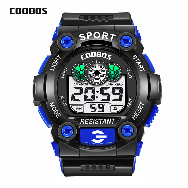15pcs/lot Sport Watch Children Kids Watches For Boys Students Electronic LED Digital Wristwatches Child Clock Teen Hours Hodinky