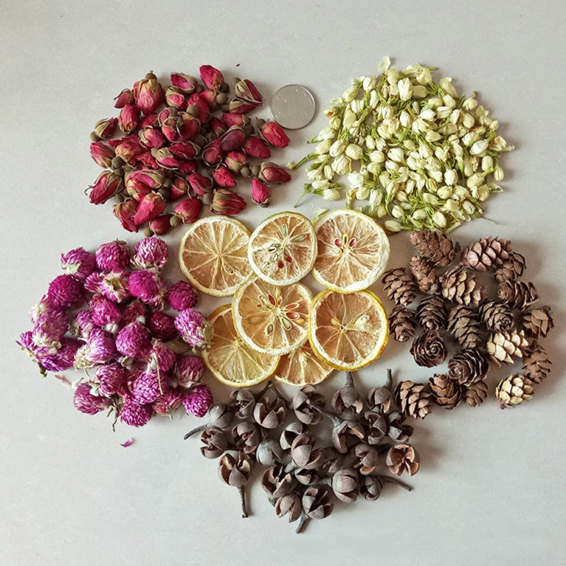Candle Decoration Flower Lemon Leaf Candle Petal DIY Making Material Aromatherapy Pure Soy Wax Natural Ingredients