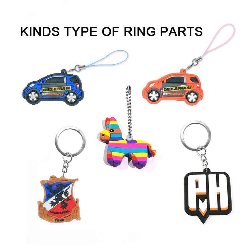 Custom Make Soft PVCคุณภาพสูงพวงกุญแจเองออกแบบโลโก้ที่กำหนดเองพวงกุญแจการ์ตูน 100% เป็นมิตรกับสิ่งแวดล้อมปลอดสารพิษ