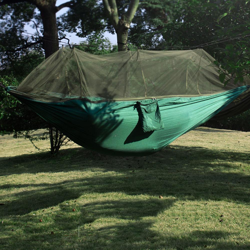 Lightweight Portable Camping Hammock And Tent Awning Rain Fly Tarp Waterproof Mosquito Net Hammock Canopy 210T Nylon Hammocks