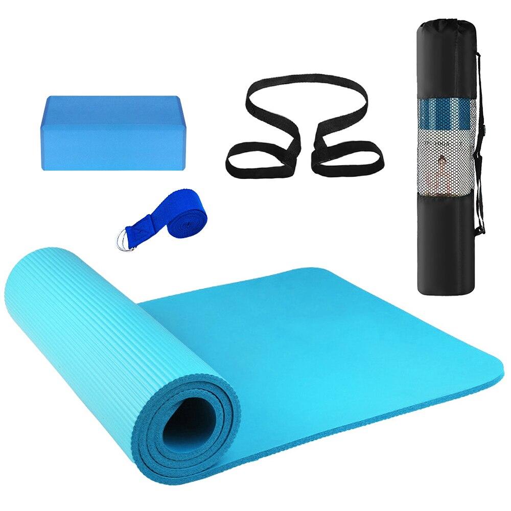 Yoga Mat Blocks Stretching Gym Fitness