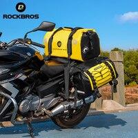 ROCKBROS 60L Bike Bag Waterproof Big Capacity Reflective Strip Wear-resistant Motorcycle Bag Motrocycle Travel Pannier Bags