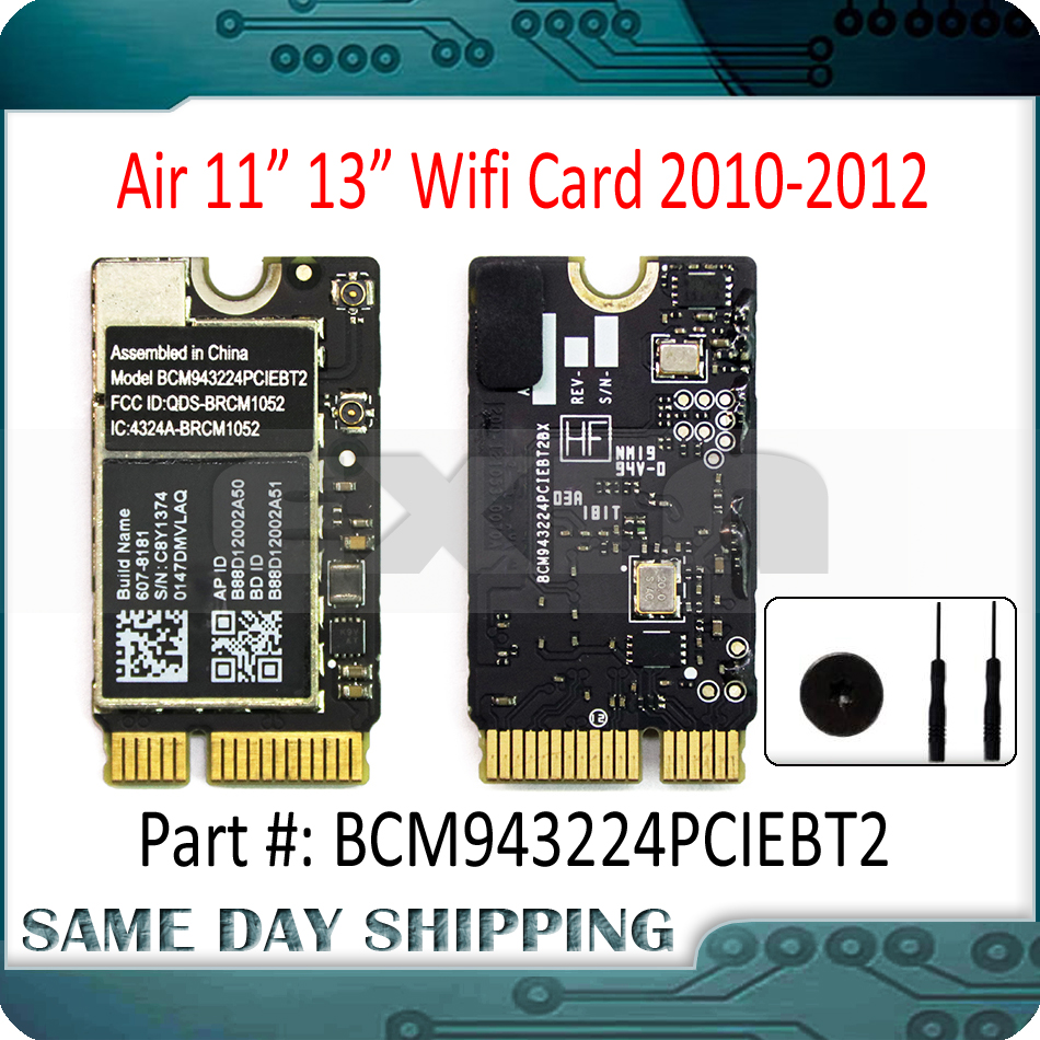 Used WiFi Bluetooth AirPort Card BCM943224PCIEBT2 For Apple MacBook Air 11