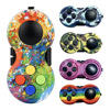 Fidget Toy Rainbow Handle Fidget Toy Classic Controller Game Pad Fidget Focus Toy ADHD Anxiety and Stress Relief
