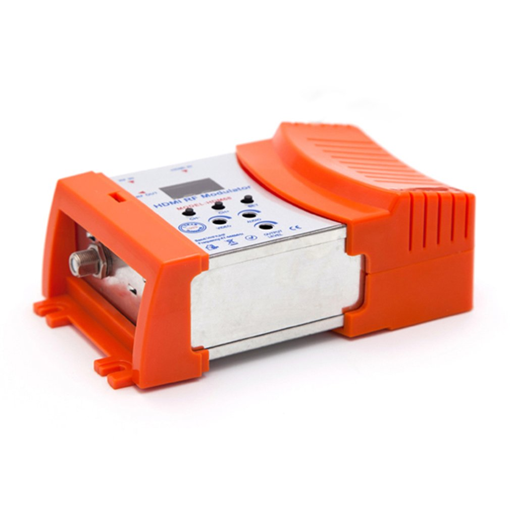 New HDM68 Modulator Digital RF HDMI Modulator AV To RF Converter VHF UHF PAL/NTSC Standard Portable Modulator For EU Orange
