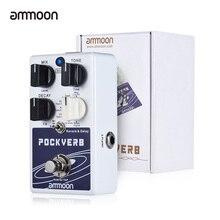 Ammoon POCKVERB Reverb i pedał z efektem Delay do gitary 7 efektów pogłosu + 7 efektów opóźnienia z funkcją Tap Tempo True Bypass