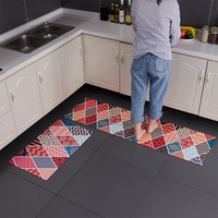 Washable Vinyl Kitchen Carpet On The Floor Entrance Door Mat Anti Slip Carpets For Ground Cooking PVC Long Kitchen Rugs