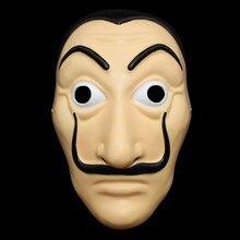 Máscaras De fiesta Dali plástico Halloween Papel Casa La Casa De Papel Cosplay decoración mascarada herramientas divertidas nuevas máscaras