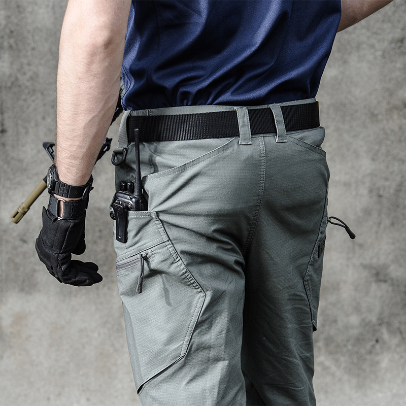 Men's Military Army Hiking Sweatpants Urban Tactical Clothing Combat Trousers Multi Pockets Unique Casual Pants Ripstop Fabric