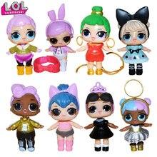 LOL SURPRISE! 8 шт., куклы lol, игрушки для девочек, подарок-сюрприз, Детская кукла, игрушки для девочек, кукла lol, сюрприз, детский подарок на день рождения, 8 см