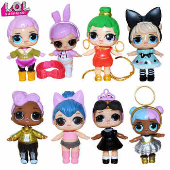 L.O.L SURPRISE! 8 pieces lol dolls toys for girls surprise gift baby doll girls toys doll lol surprises kids birthday gift 8cm - DISCOUNT ITEM  45% OFF All Category