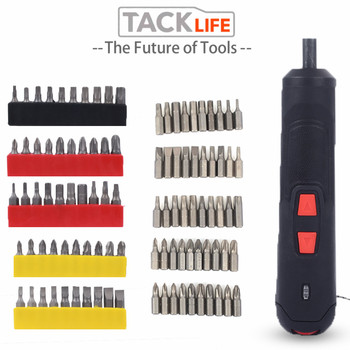 TACKLIF Portable Electric Screwdriver Drill Screwdriver Household Rechargeable Battery Screwdriver With Twistable Handle