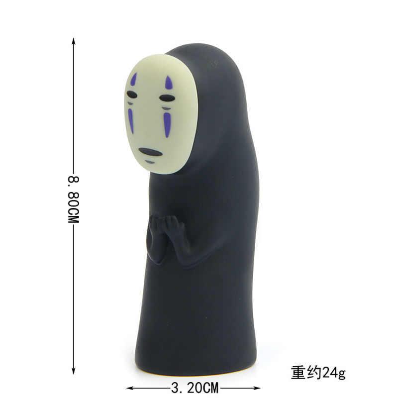 2019 Studio Ghibli Hayao Miyazaki A Viagem de Chihiro No Rosto Homem Vinil Figura de Ação Anime Modelo Kaonashi 8 centímetros Decoração Boneca brinquedo do miúdo