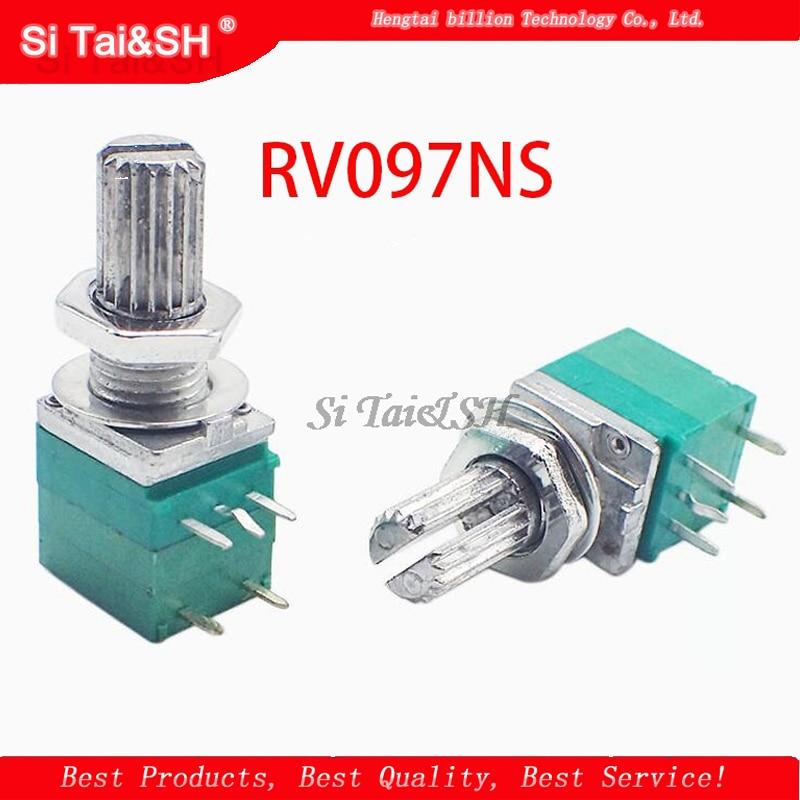 5 шт. RV097NS 5K 10K 20K 50K 100K 500K с переключателем звука 5-контактный вал 15 мм усилитель уплотнительный потенциометр