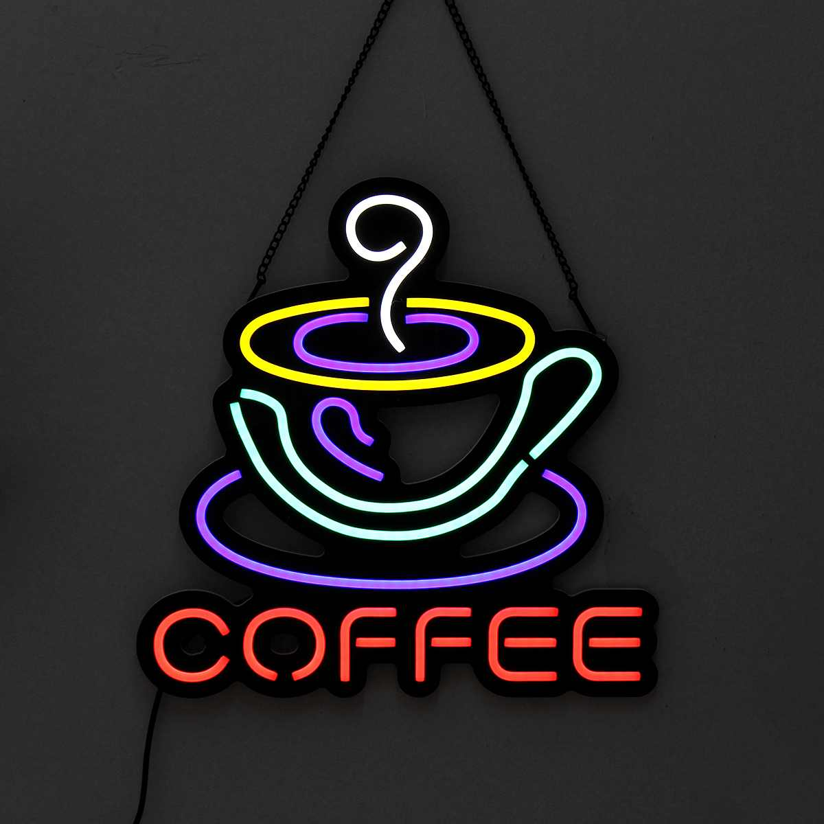 コーヒー Led ネオンサインライト吊りパーティーバークラブ視覚アートワークランプ壁の装飾商業照明ネオン電球 AC110-240V