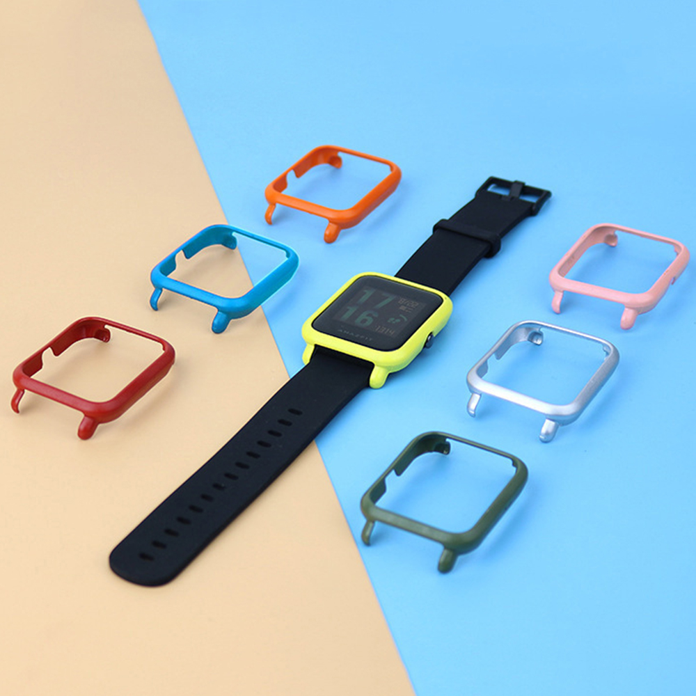 Slim Colorful Fashion Frame Case Protect Shell Smart Watch Accessories Screen Protector For Huami Amazfit Bip Youth Watch Cover