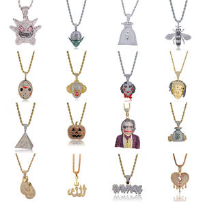 Pendant Necklace Jewelry Rhinestone Chain Crystal Movie-Characters Hip-Hop Fashion Punk
