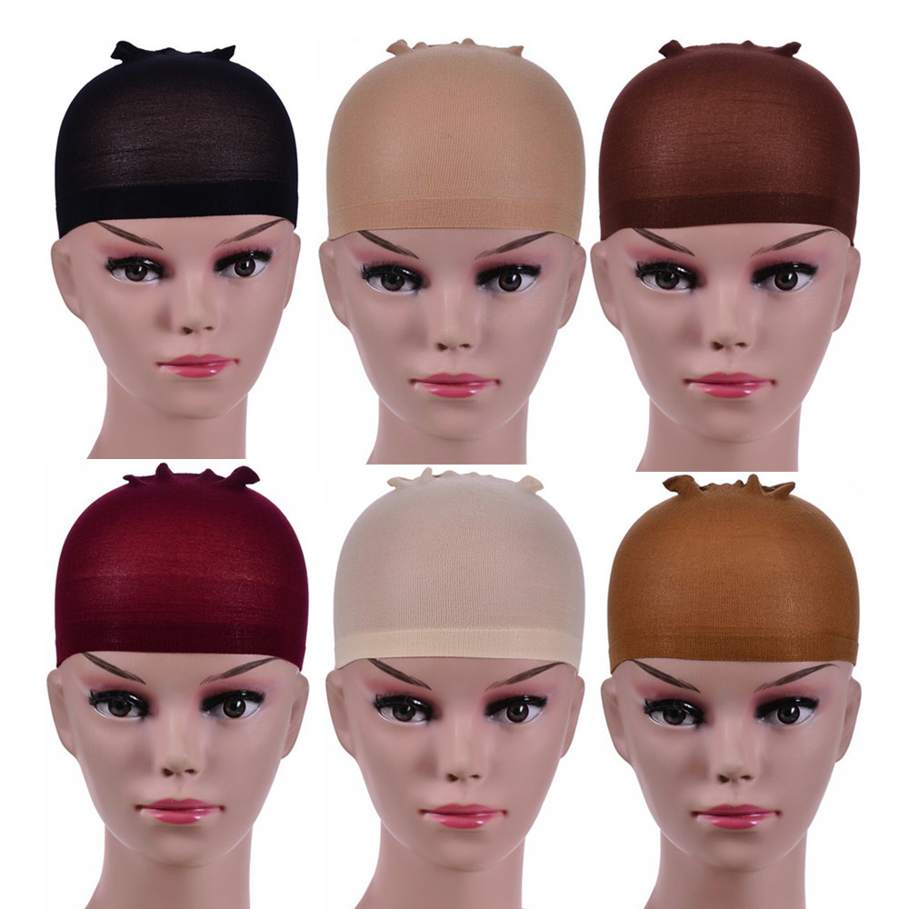 2 Pieces/Pack Best Quality Deluxe Hair Wig Cap Hair Nets For Weave Stretch Mesh Wig Cap For Making Wigs Hair Care Styling