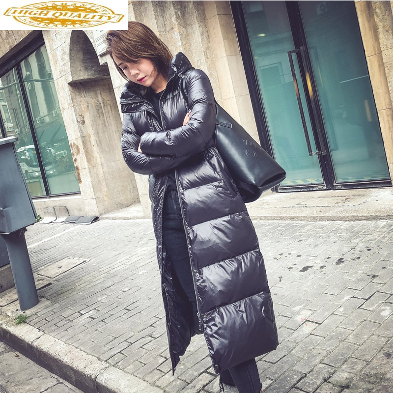 Women Clothes 2019 Winter Coat Women Duck Down Jacket Women Korean Puffer Jackets Long Coat Doudoune Femme Hiver MY1494