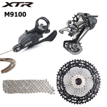 Shimano XTR M9100 12s Speed Groupset Shiter Lever Trigger SGS Long Rear Derailleur Cassette Freewheel 12-Speed Chain shimano x t r rd m9000 sgs 11s speed mtb bicycle rear derailleur long cage carbon leg