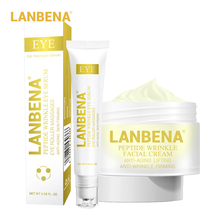 цена на LANBENA Peptide Anti Wrinkle Facial Cream+Eye Serum Day Cream Anti Aging Skin Whitening Lifting Firming Acne Treatment Face Care