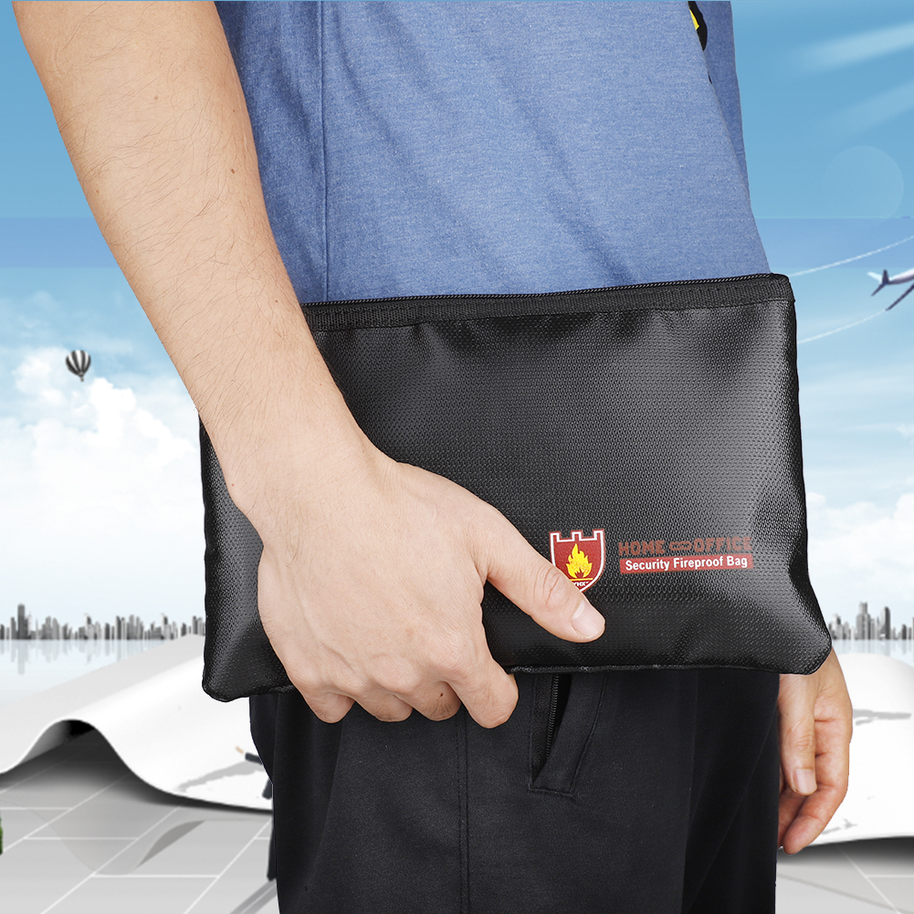 Fireproof Document Bags Waterproof And Fireproof Bag With Fireproof Zipper For IPad Money Jewelry Passport Document Storage NEW