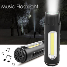 KINGSHAN Flashlight Work Light Rechargeable USB 3 Modes COB LED Light Car Maintenance Torch Speaker Rear Flashlight With Speaker