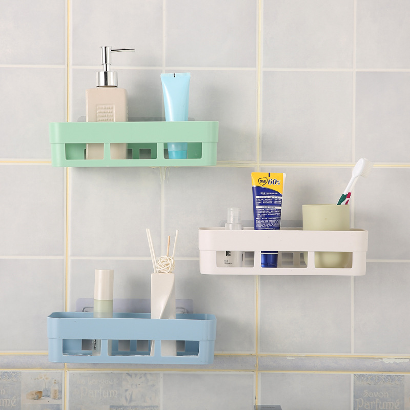 Bathroom Storage Plastic Bathroom Corner Storage Rack Organizer Shower Shelf Bathroom Storage Suction Shelf JWYJZ57