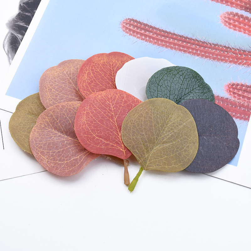 10/30 Pieces Multicolor Wedding Festival Supplies Eucalyptus Leaves Diy Gifts Box Artificial Plants Home Decor Silk Leaf Cheap