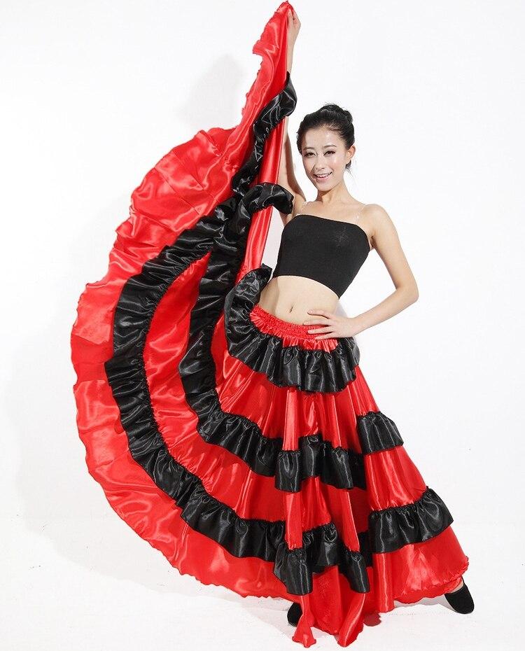 Flamenco Spansk skjørt Gypsy Belly Dance Skirt Ballroom Dancing - Scene og danseklær - Bilde 3
