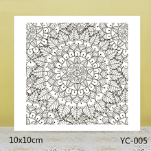 ZhuoAng Neat Leaves Flowers Clear Stamps For DIY Scrapbooking/Card Making/Album Decorative Silicon Stamp Crafts