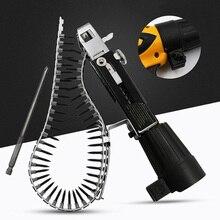 Adaptador de pistola de clavos con cadena de puntas de tornillo automático, pistola de tornillo para taladro eléctrico, herramienta de carpintería, cinta de destornillador de alimentación automática