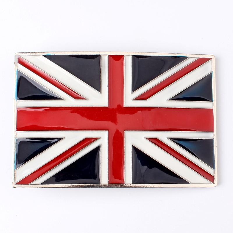 British Flag Pattern Belt Buckle Handmade Homemade Belt Accessories Waistband DIY Western Cowboy Rock Heavy Metal Style K41