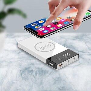 Image 2 - 20000mAh QC 3.0 sans fil chargeur batterie externe coque type c USB PD Ports de Charge rapide affichage numérique bricolage Powerbank Shell 6*18650