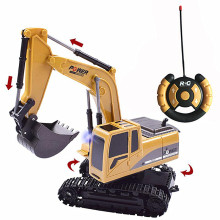 цены Kids Alloy Excavator Toy Remote Control Engineering Vehicle Wireless Remote Control Model Car Electric Car Toy for Boys Gift