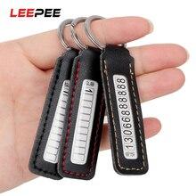 LEEPEE табличка с номером телефона, автомобильный брелок, кольцо для ключей с номером телефона, карта с защитой от потери, Стайлинг автомобиля, ...
