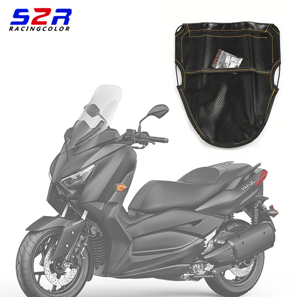 Scooter Trunk Grid Pocket For Yamaha AEROX NVX 155 NMAX XMAX 300 400 ZUMA 125 Electric Universal Seat Storage Mesh Net Bag