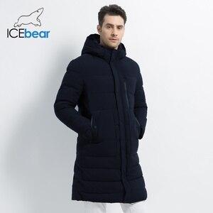 Image 1 - ICEbear 2019 новая зимняя куртка ветрозащитная мужская хлопковая модная мужская парка повседневные мужские пальто Высокое качество Мужское пальто MWD18826I