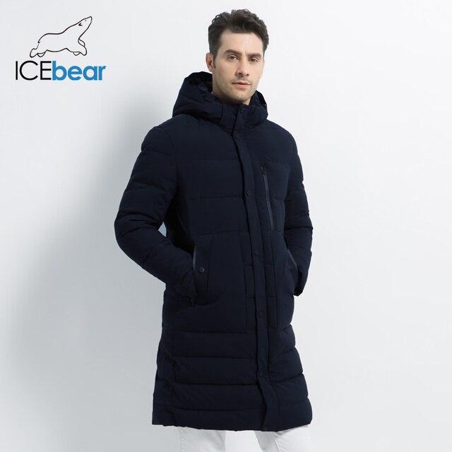 ICEbear 2019 новая зимняя куртка ветрозащитная мужская хлопковая модная мужская парка повседневные мужские пальто Высокое качество Мужское пальто MWD18826I
