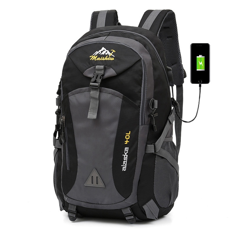 Weysfor 40L Waterproof Men Backpack Travel Pack Sports Bag Pack Outdoor Mountaineering Hiking Climbing Camping backpack For Male