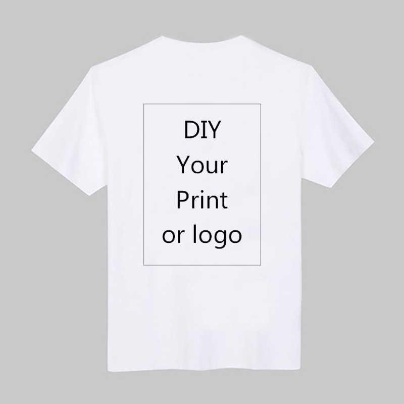 Camiseta de impressão personalizada masculina, faça você mesmo, com foto ou logotipo, camiseta branca roupas modal camiseta tamanho S-3XL