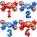 1 комплект надувные шары Маккуин с рисунком из мультфильма «Тачки» День рождения украшения детский душ Декор Детский праздничный костюм 36 д...