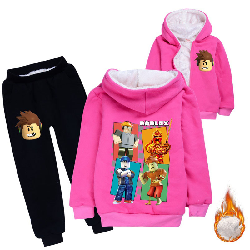 Image 5 - Children thickened Hoodies fleece bear suit cotton thicker coat  childrens clothing sets winter models for boys girls