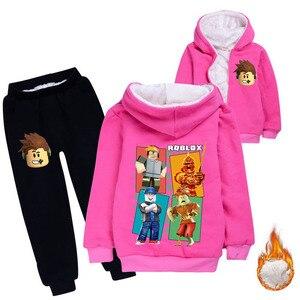 Image 5 - เด็กหนาHoodiesขนแกะหมีฝ้ายหนาเสื้อเสื้อผ้าเด็กชุดรุ่นฤดูหนาวสำหรับชายหญิง