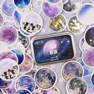 Image 1 - 20 takım/grup Kawaii kırtasiye çıkartmaları yıldız serisi sıcak damgalama dekoratif cep çıkartmalar Scrapbooking DIY el sanatları Sticker