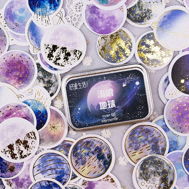 20 takım/grup Kawaii kırtasiye çıkartmaları yıldız serisi sıcak damgalama dekoratif cep çıkartmalar Scrapbooking DIY el sanatları Sticker