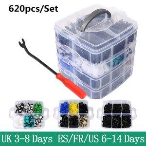 100/620Pcs Auto Clips Auto Fastener Clips Gemengde Auto Body Push Retainer Pin Bumper Portierbekleding Fastener Kit in De Auto Accessoires(China)